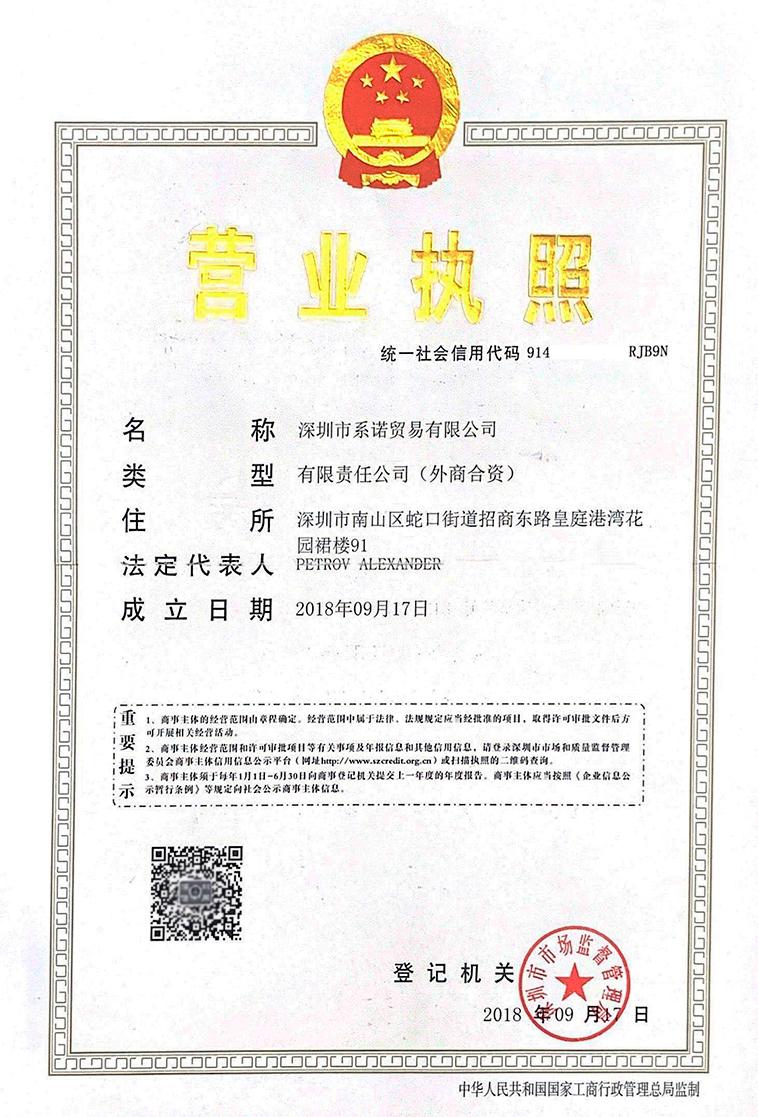 Лицензия SinoGroup фото